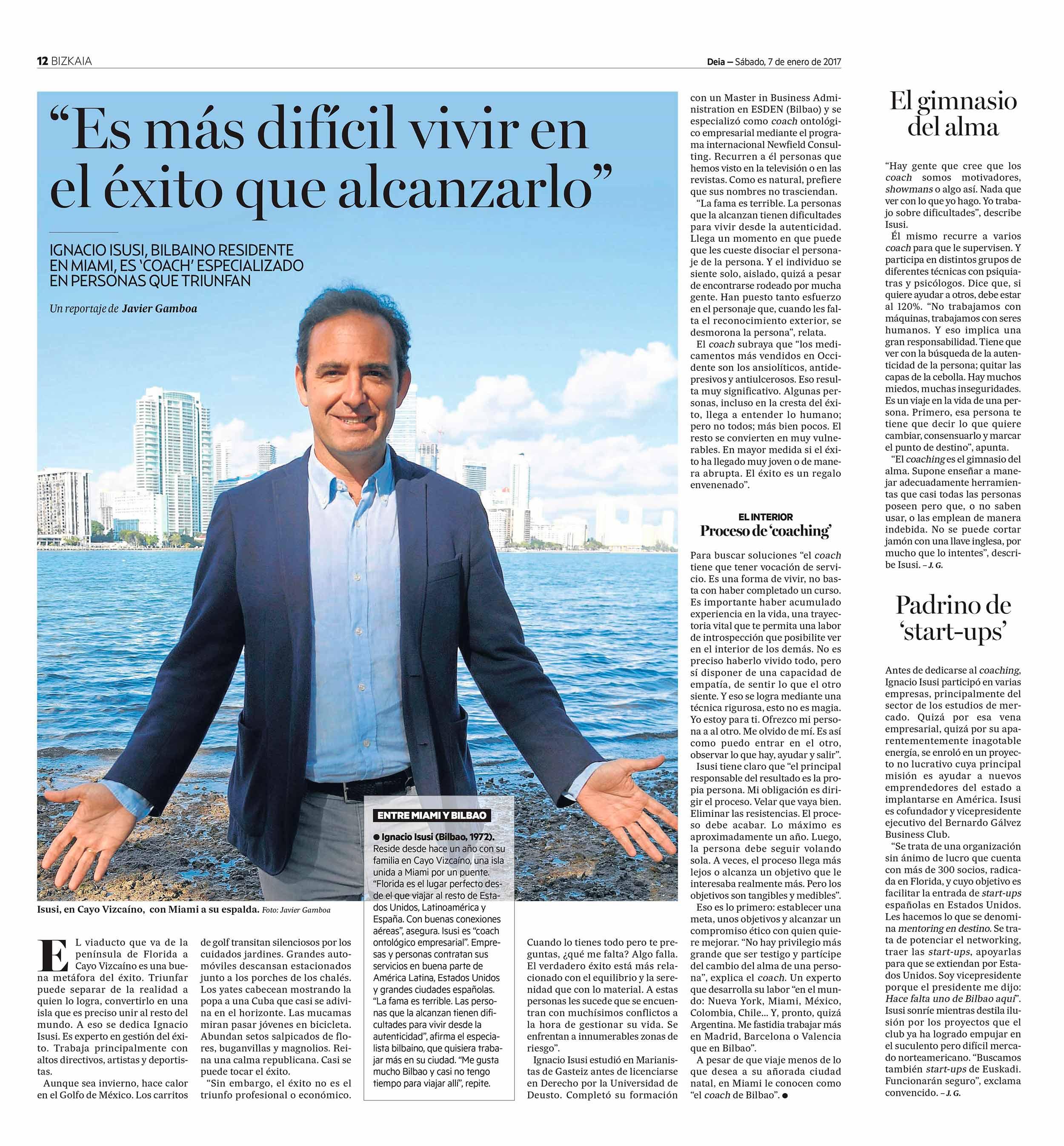 Ignacio Isusi - Éxito