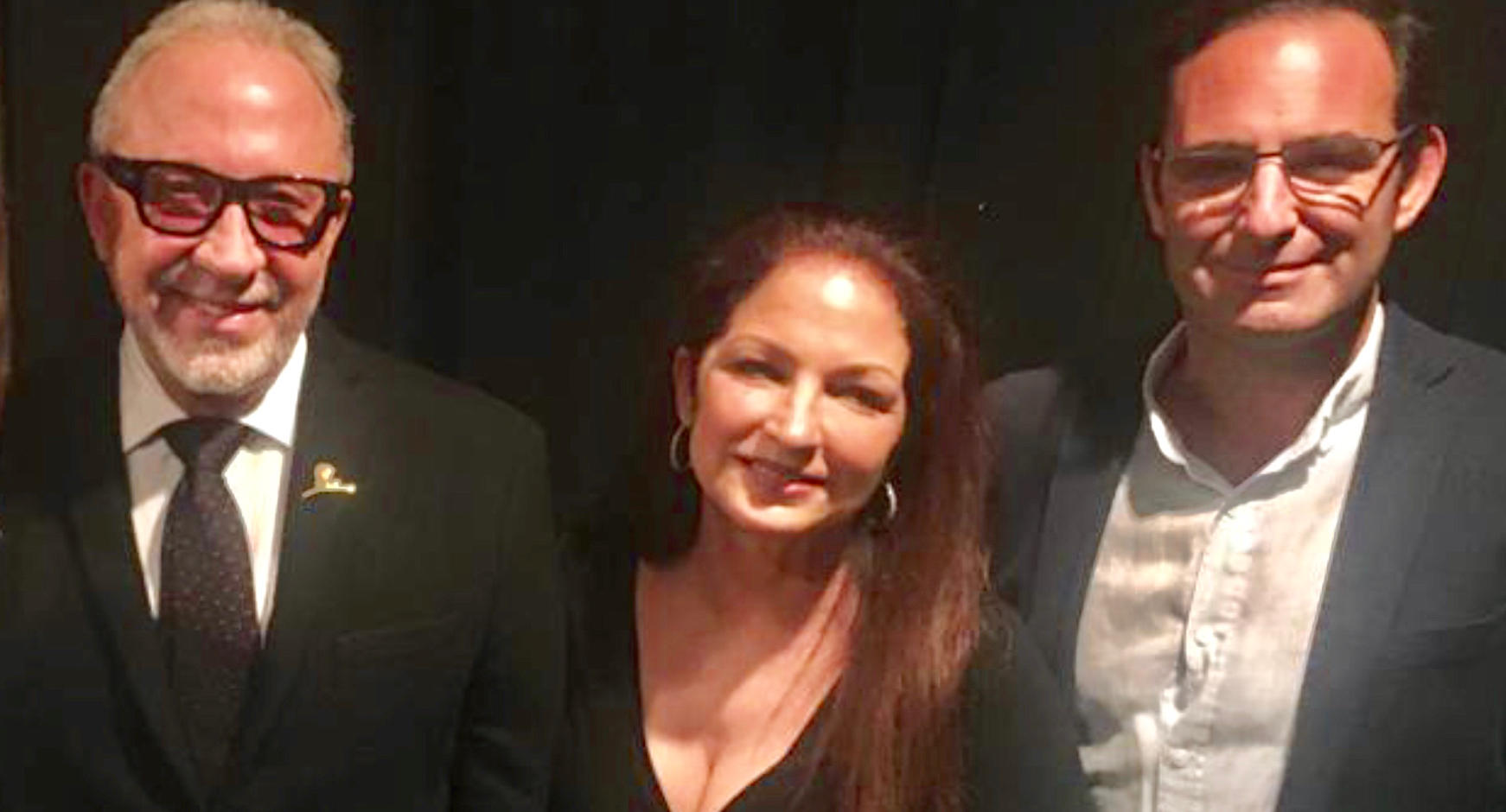 Ignacio Isusi con Emilio y Gloria Estefan