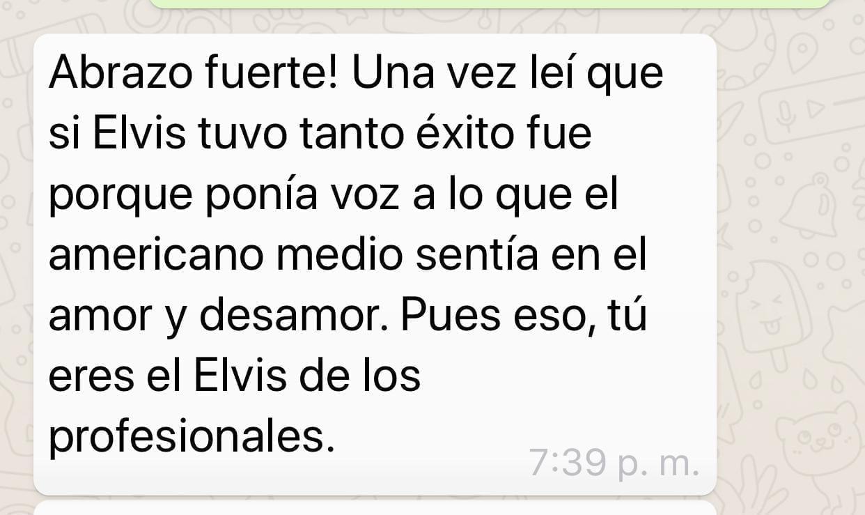 Una Anécdota de la vida: El Elvis de los profesionales - Ignacio Isusi
