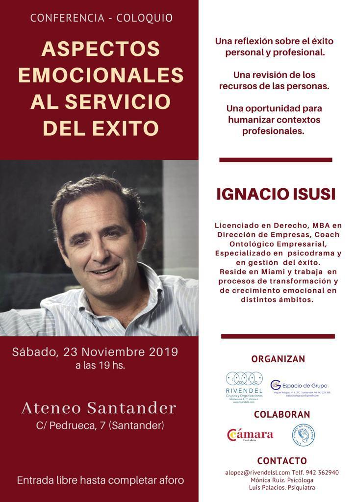 23 de Noviembre: Aspectos emocionales al servicio del éxito - Ignacio Isusi