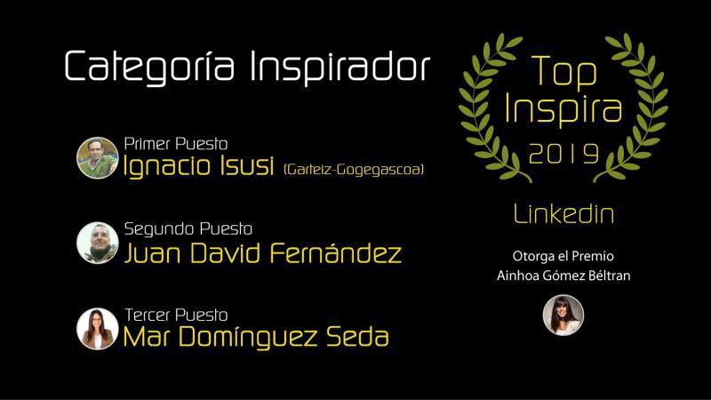 Primer premio TOP INSPIRA en la categoría INSPIRADOR - Ignacio Isusi